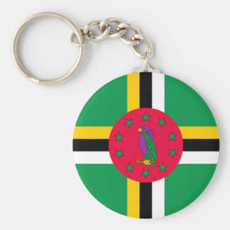 Low Cost! Dominica Flag Keychain