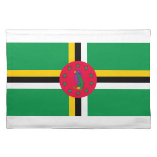 Low Cost! Dominica Flag Placemats