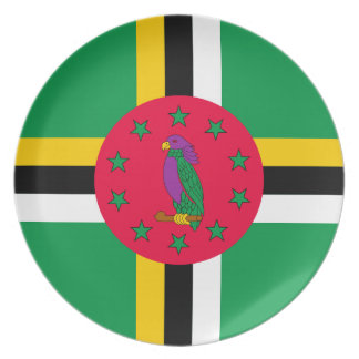 Low Cost! Dominica Flag Plate