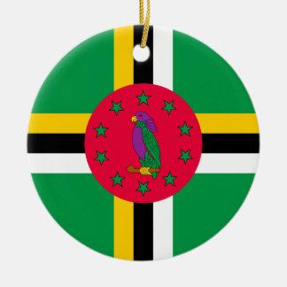 Low Cost! Dominica Flag Round Ceramic Ornament