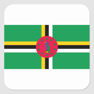 Low Cost! Dominica Flag Square Sticker