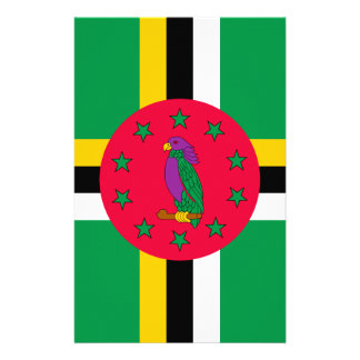 Low Cost! Dominica Flag Stationery