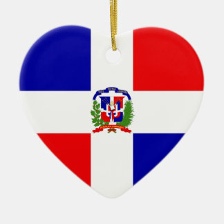 Low Cost! Dominican Republic Ceramic Heart Ornament