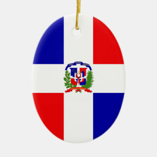 Low Cost! Dominican Republic Ceramic Oval Ornament