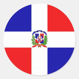 Low Cost! Dominican Republic Classic Round Sticker