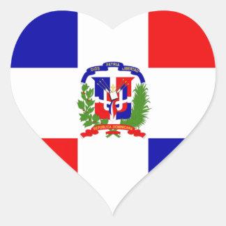 Low Cost! Dominican Republic Heart Sticker