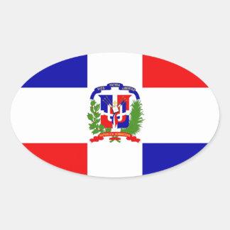 Low Cost! Dominican Republic Oval Sticker