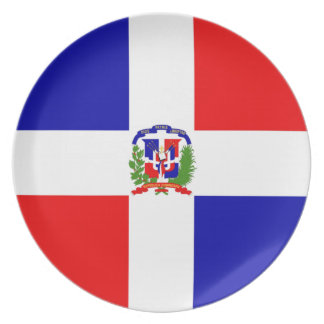 Low Cost! Dominican Republic Party Plates