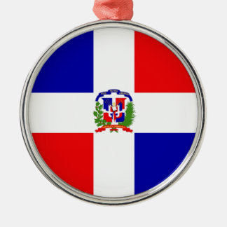 Low Cost! Dominican Republic Silver-Colored Round Ornament