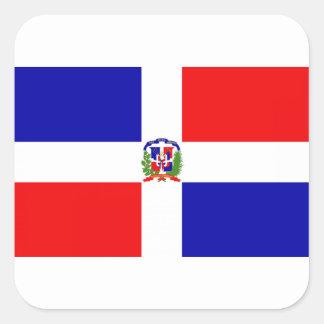 Low Cost! Dominican Republic Square Sticker