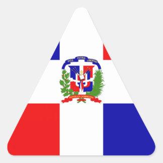 Low Cost! Dominican Republic Triangle Sticker