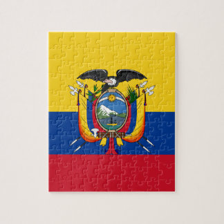 Low Cost! Ecuador Flag Jigsaw Puzzle