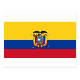 Low Cost! Ecuador Flag Postcard