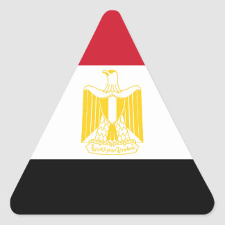 Low Cost! Egypt Flag Triangle Sticker
