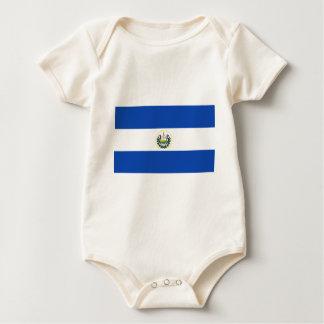 Low Cost! El Salvador Flag Baby Bodysuit