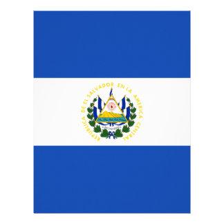 Low Cost! El Salvador Flag Customized Letterhead