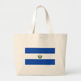 Low Cost! El Salvador Flag Large Tote Bag