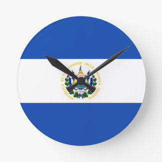 Low Cost! El Salvador Flag Round Clock