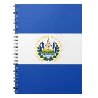 Low Cost! El Salvador Flag Spiral Notebook