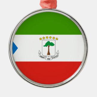 Low Cost! Equatorial Guinea Flag Metal Ornament