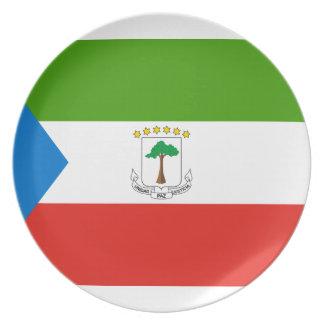 Low Cost! Equatorial Guinea Flag Plate
