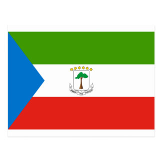 Low Cost! Equatorial Guinea Flag Postcard
