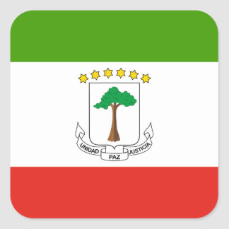 Low Cost! Equatorial Guinea Flag Square Sticker