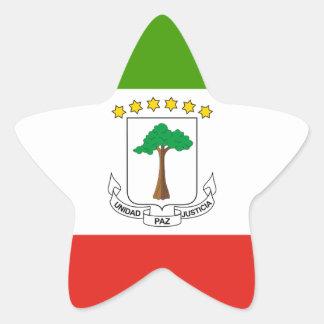 Low Cost! Equatorial Guinea Flag Star Sticker