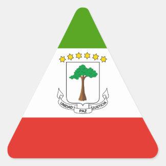 Low Cost! Equatorial Guinea Flag Triangle Sticker