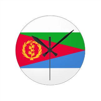 Low Cost! Eritrea Flag Round Clock