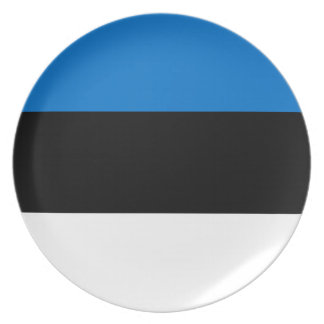Low Cost! Estonia Flag Plate