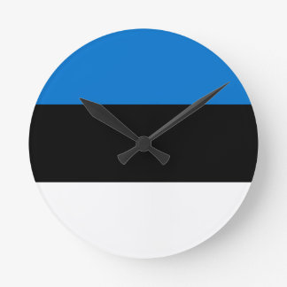 Low Cost! Estonia Flag Round Clock