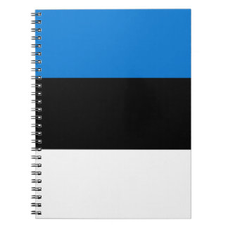 Low Cost! Estonia Flag Spiral Notebook