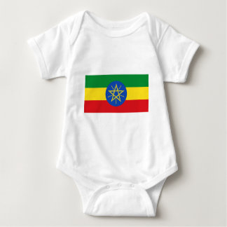 Low Cost! Ethiopia Flag Baby Bodysuit