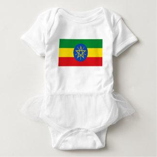 Low Cost! Ethiopia Flag Baby Bodysuit