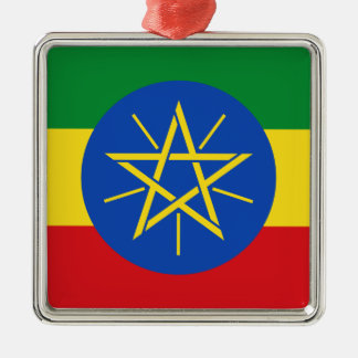Low Cost! Ethiopia Flag Metal Ornament
