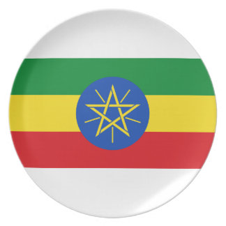 Low Cost! Ethiopia Flag Plate