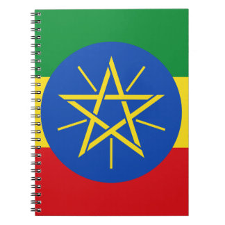 Low Cost! Ethiopia Flag Spiral Notebook