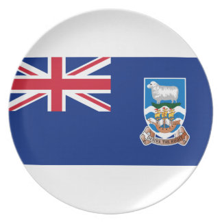 Low Cost! Falkland Islands Flag Plate