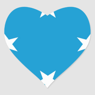 Low Cost! Federated States of Micronesia Flag Heart Sticker