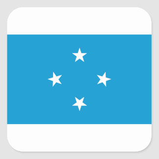 Low Cost! Federated States of Micronesia Flag Square Sticker