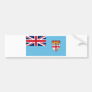Low Cost! Fiji Flag Bumper Sticker