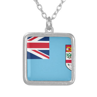 Low Cost! Fiji Flag Silver Plated Necklace