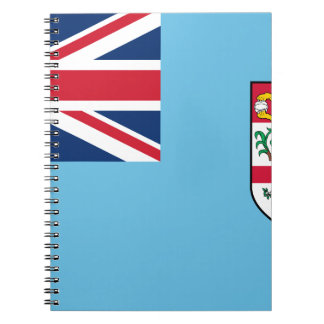 Low Cost! Fiji Flag Spiral Notebook