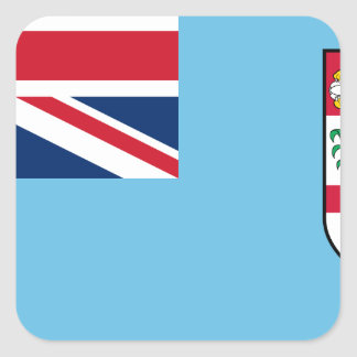 Low Cost! Fiji Flag Square Sticker
