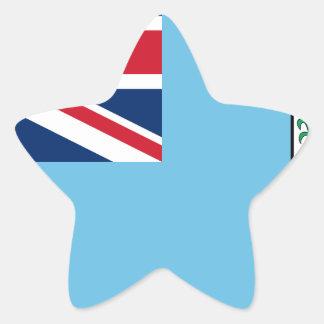Low Cost! Fiji Flag Star Sticker