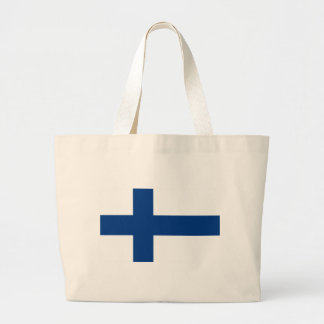 Low Cost! Finland Flag Large Tote Bag