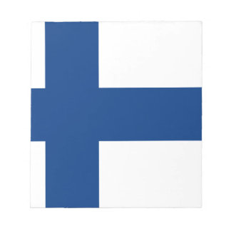 Low Cost! Finland Flag Notepad
