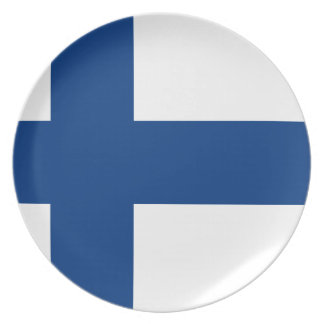 Low Cost! Finland Flag Plate
