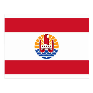 Low Cost! French Polynesia Flag Postcard